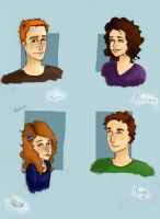 Weasley family by Elderberry-bb
