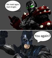 Injustice: Spawn vs Batman by xXTrettaXx