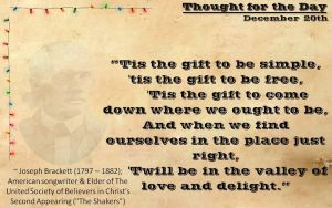 Thought for the Day - December 20th by ebturner