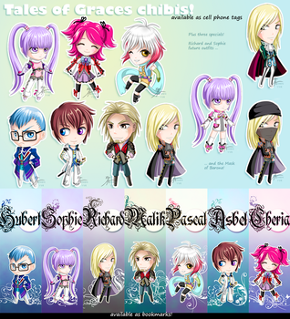 Tales of Graces chibis by zhenyue