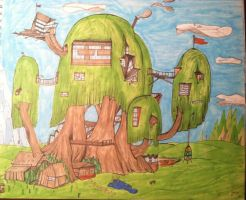 Adventure Time Tree House : re-imagined by CARTINMAN