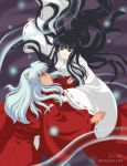 Kikyo and InuYasha by paintpixel