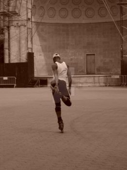 figure skater central park NyC by vivid-i-photography