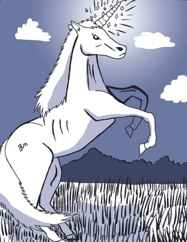 Majestic Unicorn by Ryou-Angel-Bakura