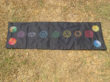 Chakra Altar Cloth by WillowForrestall