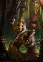 Oyster : The Mushroom Forest Guardian by RenePolumorfous