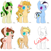 Fruit pony Adopts [CLOSED] by NubbyBunns