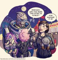 Carnival Date with Garrus by Oriana132