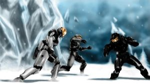 Red vs Blue - Ice Fight by BaSHeL1K