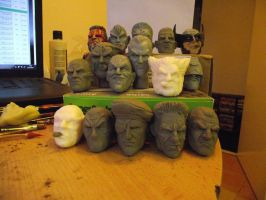 some 1/6 head sculpts by logan250