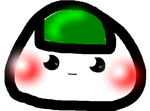 Scared Riceball Clear Icon by RiceBalls4Me