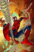 Spiderman vs Sinister 5?(pencil=me, colors=Luis) by fig