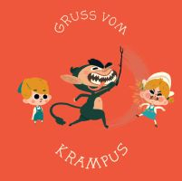 Krampus Helps the Children Behave by paperbeatsscissors
