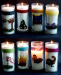 Wheel of the Year Candles by El-Sharra