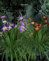 Day Lily Garden by oldhippieart