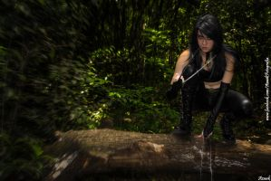 Laura Kinney - In the woods by Azaak