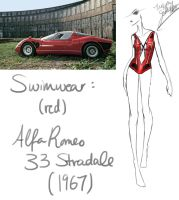 1967 (Red) Alfa Romeo 33 Stradale by GL-Gloria