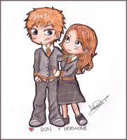 Ron+Hermione by MoniSaku