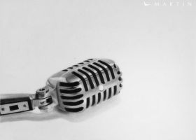 .: Old microphone :. by Martin--Art
