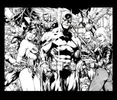 Justice League Ed Benes Splash by JonBolerjack