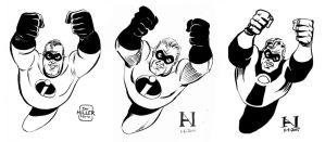 Mr. Incredible - Then vs. Then vs. Now by IanJMiller