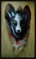 Feather Painting: Fox Eye by Culpeo-Fox