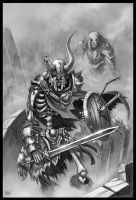 Skeleton Warrior by Maxa-art