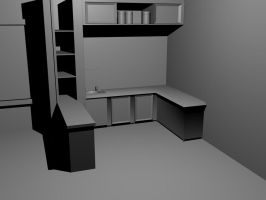 Kitchen WIP by IvanTheLoneWolf