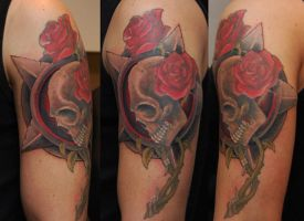 skull and roses by wargland