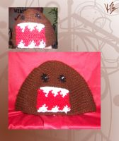 Domo-kun Christmas hat by darkmold