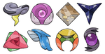 Naisu Region Gym Badges 2.0 by pokeluka