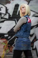Android 18 cosplay by KatMaz