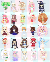 FREE ADOPTABLES MEGA BATCH *CLOSED* by Mikabunni