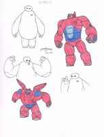 Baymax doodles by grenouille-rousse