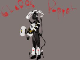 GLaDOS puppet cosplay scribble 2 by YachiruFoxTailFairy