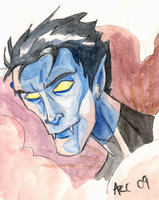 Watercolour Nightcrawler by WesleyRiot