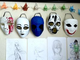 Masks, Masks, and more Masks by KittyUlquiorra