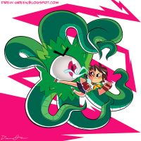 Sakura Vs. Shuma-Gorath by DrewGreen
