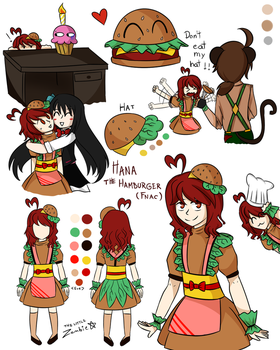 Hana The Hamburger by JustALittleZombie