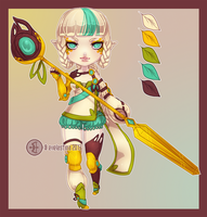 [Clos] HB: $16 Elven Battle Mage Character Auction by Valkymie