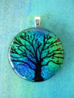 Fused Glass Tree of Life by FusedElegance