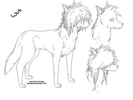 Canine line art FREE by Osetia