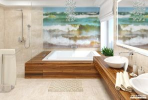 Contemporary bathroom. by sxela