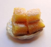 Mini Lemon bars by WaterGleam