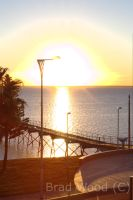 Ceduna jetty sunset. by BWPhotographry