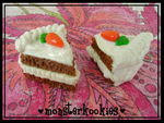 Cutesy Carrot Cake Slices by monsterkookies