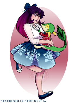 Christmas Victoria and Cypress by StarkindlerStudio