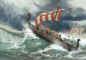Destruction of Viking Fleet by jasonjuta