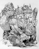 Dwarves Of Yore By DW Miller by ConceptsByMiller