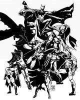 The many faces of BATMAN by MalevolentNate